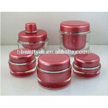 5ml 10ml Redonda frasco de acrílico frasco de amostra mini frasco de plástico vazio 5g 10g
