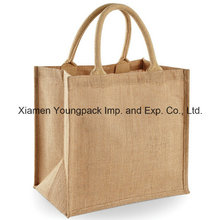 High Quality Custom Reusable Eco Large Natural Jute Carry Bag