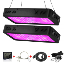 Full Spectrum LED Grow Light with 2 Dimmers
