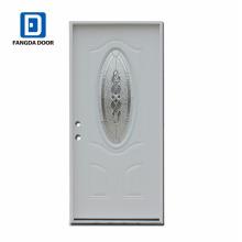Luxe, classique, haute définition, petite porte en acier décorative extérieure ovale avec verre, porcelaine