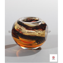 Good-looking Pattern Exquisite Glass Candleholder