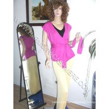 Chaleco de rebeca de punto de cachemir para mujer (HM-SW09011)