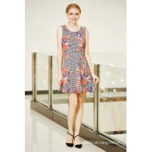 Colocação Impressão Floral MIDI Prom Dress