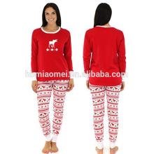 2016 al por mayor del bebé conjunto de ropa niñas pijamas pijamas de la familia de navidad
