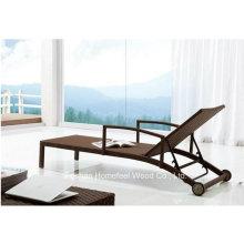 Wicker Aluminium Rattan extérieur Beach Lounge Leisure Chair