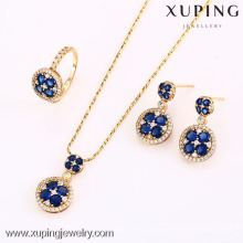 62636-Xuping Elegant Wedding Crystal Jewelry Conjunto de lujo clásico