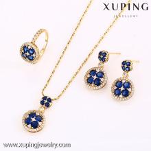 62636-Xuping elegante casamento cristal jóias clássico luxo conjunto