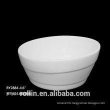 Wholesale Porcelain Salad Bowl White Soup Bowl 4.6""