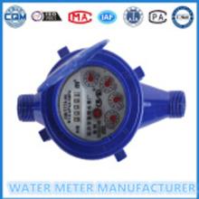 ABS प्लास्टिक पानी मीटर की Dn15mm मल्टी जेट ठंडे पानी के मीटर