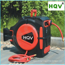 A18 Portable lightweight retractable air water oil hose reel with spring loaded
