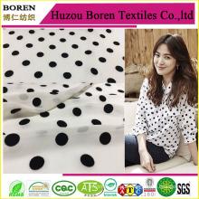 Weißes Gewebe mit schwarzen Flecken Gewebe Textile Chiffon Maxi Kleider