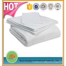 100% cotton solid color thermal hospital leno blanket