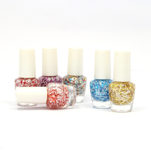 Water-based Toxic-free Winter Color Snowflake Glitter Nail Polish