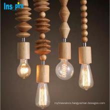 restaurant indoor nordic wooden decorative modern pendant lamp chandelier lighting