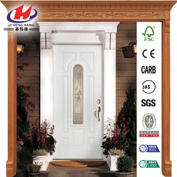 Langford Full Lite Primed Premium Steel Front Door