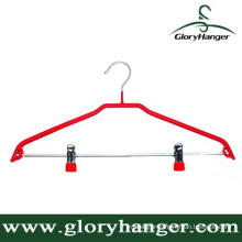 DIP Plastic Matel Hanger with Two Clip