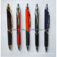 Triangle Metal Ball Pen with Rubber Grip (LT-C345)