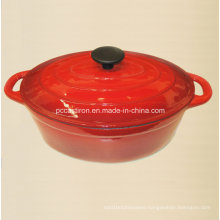 Oval Enamel Cast Iron Cocotte Pot Manufacturer From China Size 30X23cm