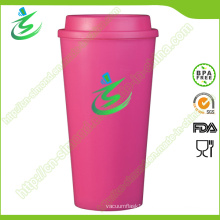 16 Oz Top Flat BPA-Free Coffee Cup with Custom Logo