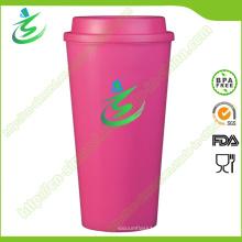 16 Oz Top Flat BPA-Free Coffee Cup с пользовательским логотипом