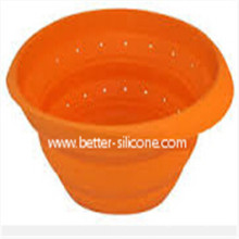 Wholesale Foldable Plastic Silicon Colander