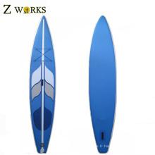 Paddleboard gonflable de SUP de qualité supérieure avec des ailerons voyageant des conseils de palette