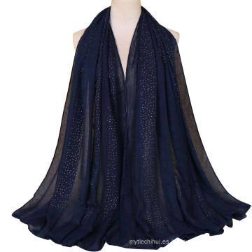 TINGYU venta al por mayor Malasia Pakistani algodón encaje bufanda mujeres Hijab