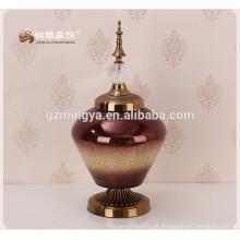 Vaso de flores de vidro elegante ornamento de flor de vidro bonito decoração barato para casa