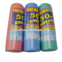 50PK Fábrica Spunlace Nonwoven Wiping pano dishcloth descartável não-tecidos para limpeza doméstica