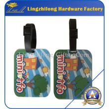 Étiquette de bagage de PVC en vrac de prix bon marché