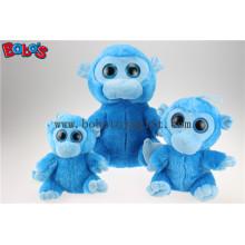 Прямая поставка с фабрикой симпатичные горячие продавая большие глаза голубые игрушки обезьяны Bos1166