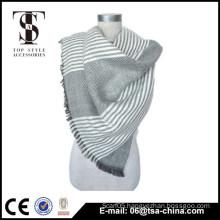 fashion style 2014 acrylic woven tranding fringe shawl scarf