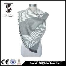 Moda estilo 2014 acrílico tecido tranding franja xale cachecol
