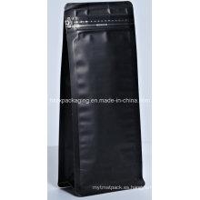 El aluminio plástico se levanta el bolso de empaquetado del alimento del café con la cremallera