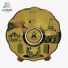Placa superior del recuerdo del metal de la impresión de cobre amarillo de la promoción superior