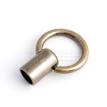 Кольцо с кожаной ручкой
