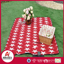 Manta de picnic polar de alta calidad al aire libre impermeable de la manta del estilo del maletín