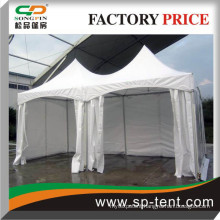 10X20 Springtop Marquee with white plain sidewalls and clear sides by Songpin China tent supplier