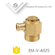 Válvula de ventilação de ar de bronze EM-V-A025 para sistema de aquecimento