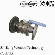 Válvula de bola manual bridada con carbono 3PC Dn15 ~ Dn 100