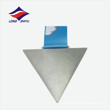 Novo estilo profissional triângulo de fábrica forma medalha de prata personalizada