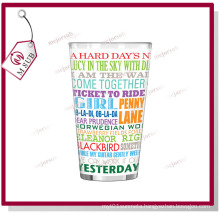 17oz Sublimation Pint Glass Mug with White Patch