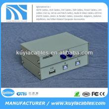 Manual 2 puertos USB 2.0 escáner PC / impresora compartimiento de conmutación