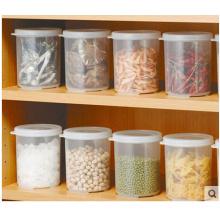 Пластмассовые для хранения банку с крышкой клип круглые пластиковые Jar