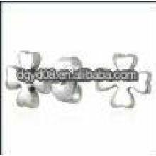 (WS1336) 2011 moda brincos de flor de aço inoxidável