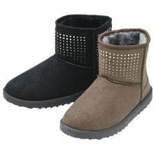 Gute Qualität Plüsch Futter TPR Außensohle Diamant Frauen Schnee Stiefel bequeme Schuhe