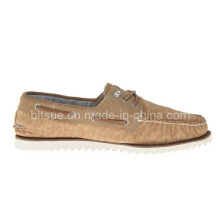 Top Quality Low Price Men Brown Leather Boat Shoes