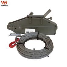 Small Hand Operated Wire Rope Pulling Hoist 100kg