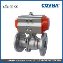 Válvula de esfera pneumática / auto Flange (Two-Piece), válvula de esfera pneumática accionada