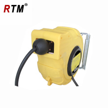 automatic retractable electric cable reel with spring load